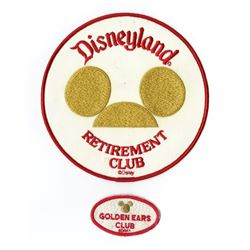 "Disneyland ""Golden Ears Retirement Club"" Patches."