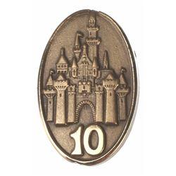 Disneyland Employee Service Award Pins - 10-Year, 15-Year, & 20-Year.