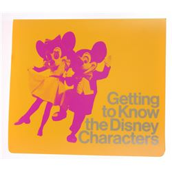 """Getting to Know the Disney Characters"" Walk-Around Character Guide Book."