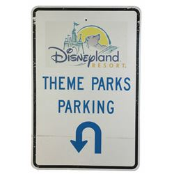 Disneyland Resort Parking Sign.