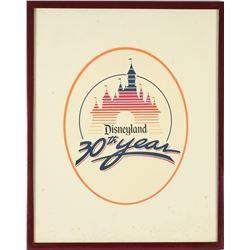 Disneyland 30th Anniversary Silk-Screened Logo.