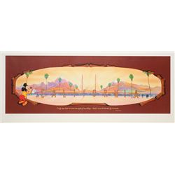 Large California Adventure Print by John Hench.