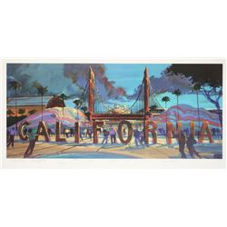 Large California Adventure Print by Tim Delaney.
