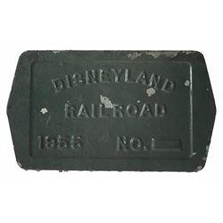 Disneyland Railroad Bolster Plate.
