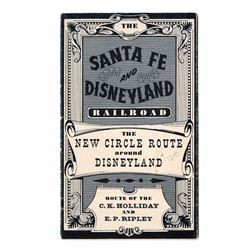 "Santa Fe & Disneyland Railroad ""New Circle Route"" Pamphlet."