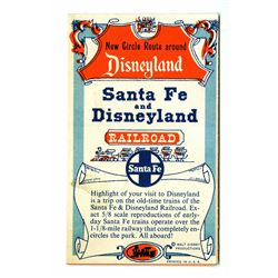 "Santa Fe & Disneyland Railroad ""New Circle Route"" Pamphlet."