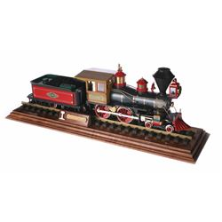 """Lilly Belle"" Locomotive Model with Piece of Walt's Carolwood Pacific Railroad Track."