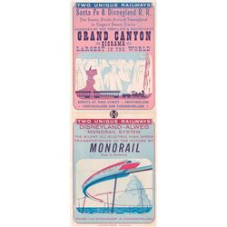 "Disneyland ""Santa Fe & Disneyland R.R."" and ""Monorail"" Gate Flyer."
