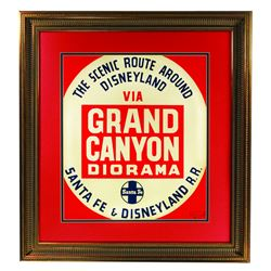"""Grand Canyon Diorama"" Lamp Post Sign."