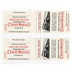 "Pair of (2) Tickets for the ""Disneyland Railroad Presidential Car""."