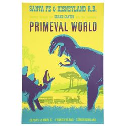 "Original Disneyland ""Primeval World"" Attraction Poster."