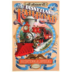 "Original ""Disneyland Railroad - Bicentennial Special"" Attraction Poster."