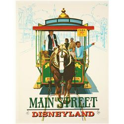 "Disneyland Main Street ""Near-Attraction"" Poster."