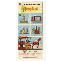 """Your Guide to Disneyland"" Bank of America Fold-Out Map."
