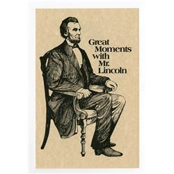"""Great Moments with Mr. Lincoln"" Handouts."