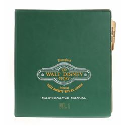 """""""The Walt Disney Story"""" and """"Great Moments with Mr. Lincoln"""" Maintenance Manual."""