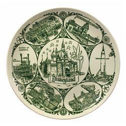 Disneyland Attractions Plate.