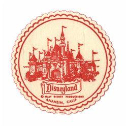 Disneyland Drink Coaster.