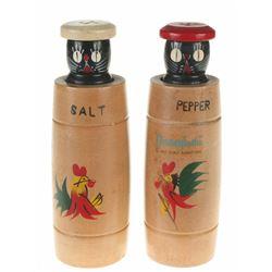 Hidden Black Cat Salt and Pepper Shakers.