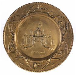 Brass Disneyland Platter.