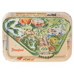 Disneyland Map Tin-Litho TV Tray.