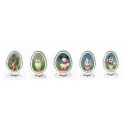 Set of (5) Disneyland Bone China Figurines.