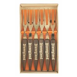 Set of (6) Bronze-Plated Mini Forks in Box.