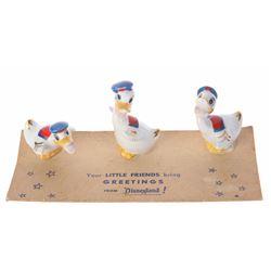 Set of (3) Ceramic Donald Duck Figurines.