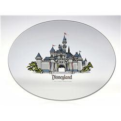 Smoked Glass Oval Disneyland Tray.