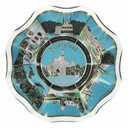Disneyland Souvenir Scalloped Glass Plate.