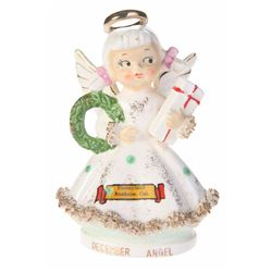 "Ceramic Disneyland ""December Angel"" Figurine."