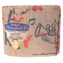Roll of Disneyland Flameproof Birthday Streamer.