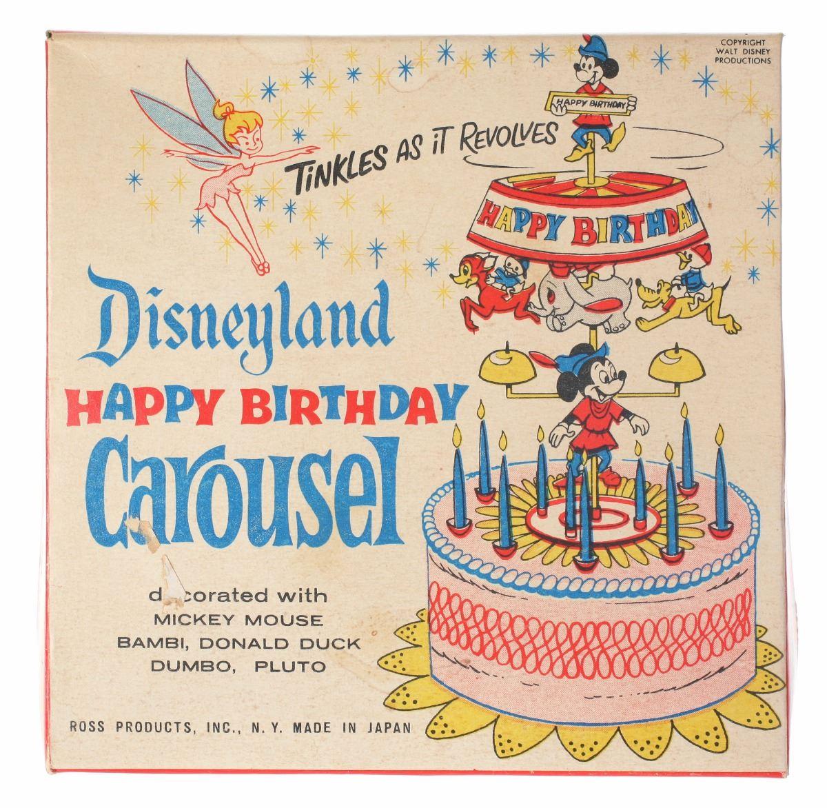 Image 1 Disneyland Happy Birthday Carousel Cake Topper