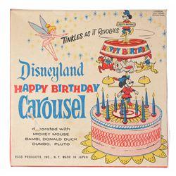 "Disneyland ""Happy Birthday Carousel"" Cake Topper."