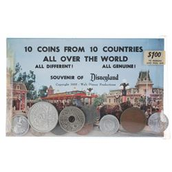 Coin Shop Main Street Postcard with (10) Coins.