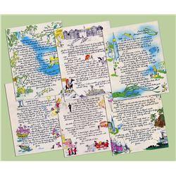 Complete Set of Disneyland Souvenir Letters.
