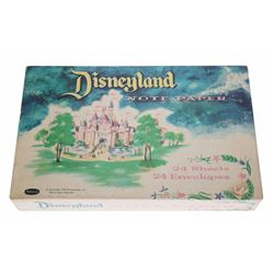 Rare Early Disneyland Note Paper in Box.