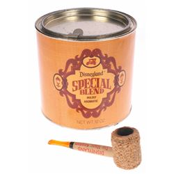Disneyland Tobacco Shop Corn Cob Pipe & Tobacco Can.