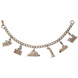 "Disneyland ""Little Miss"" Charm Bracelet."