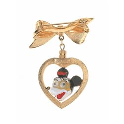 Mickey and Minnie Double-Sided Broach.