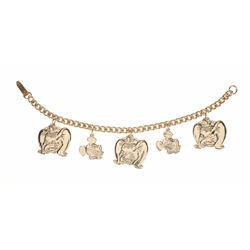 Disneyland Charm Bracelet Product Sample - Mickey & Dumbo.