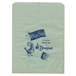 "Disneyland ""Blue Bird Shoe Store"" Paper Bag."