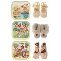 Collection of (3) Pairs of Bambi Baby Shoes.