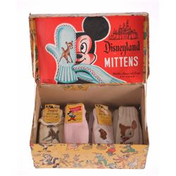"""Disneyland Mittens"" Box with (8) Character Mittens."