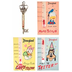 Collection of (4) Disneyland Thermometers.