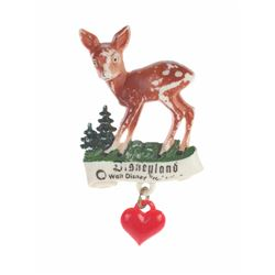 Plastic Bambi Pin with Charm.