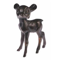 Metal Bambi Bobble Head Figurine.