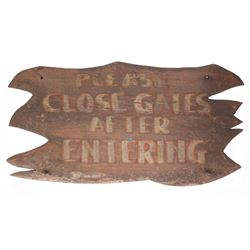 "Adventureland ""Close Gate"" Sign."