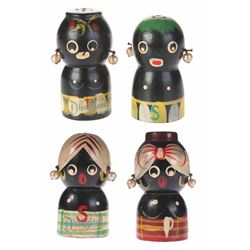 Collection of Wooden Salt and Pepper Shakers.