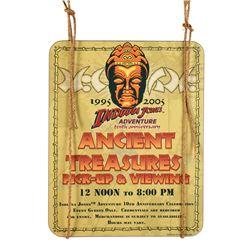 """Indiana Jones Adventure"" Tenth Anniversary Event Sign."